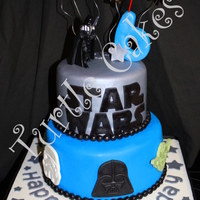 May The Force Be With You! Star Wars themed birthday cake