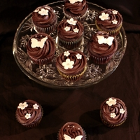 Chocolate And White Spring Cupcakes