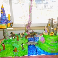Tangled Birthday Cake   Tangled bday cake and tower