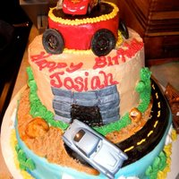 Disney's Cars Cakes   Buttercream and Fondant