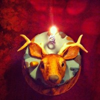 The Deer Head And Antlers Were Made Of Modelling Chocolate On The Sides Was A Camouflage Pattern This Cake Was For The Hunter In My Fami The deer head and antlers were made of modelling chocolate. On the sides was a camouflage pattern. This cake was for the hunter in my...