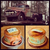 1951 Ford Truck Inspired Cake A cake made for a 16 year old boy inspired by his beloved classic truck.