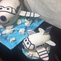 First Birthday Airplane Cake With Matching Baby Smashing Cake First birthday airplane cake with matching baby smashing cake.
