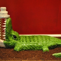 'swamp People' Inspired Gator Cake