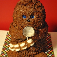 Baby Chewbacca This cake was SO much fun! I made it as a gift for my best friend & his wife. Inspired by a painting, cake is chocolate ganache piped...