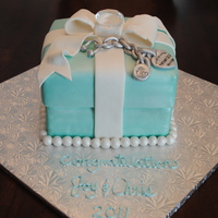 Tiffany Box & Bracelet Birthday Cake Bracelet made of fondant and gum paste.