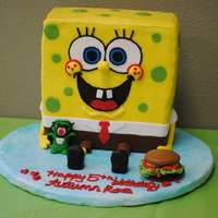 Sponge Bob Birthday Cake  This was all done with Fondant and a bit of Royal Icing. I tried the Duff fondant (Fonderific Version). I liked working with it. It was...
