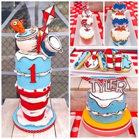 Cat In The Hat Sweet treats for my nephews first birthday.