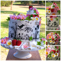 7Th Birthday Tea Party For Mia My first cake collaboration. Baked with love and covered with fondant by Kates Cakes, amazing freehand drawings by the mother of the...