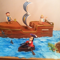 Jake And The Never Land Pirates   All fondant butter cake.