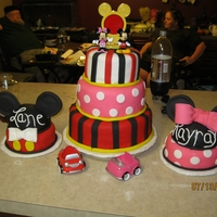 Mickey & Minnie Twins Cake