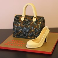 Louis Vuitton Purse & Louboutin Shoe Wanted to share my version of a purse and shoe since they both had some unique/difficult properties. The purse is a LV Fleur De Jais -...