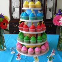 Yo Gabba Gabba Cupcake Tower I made this cupcake tower with dummies & cake drums. I painted paper strips like the backgrounds of each of the Yo Gabba Gabba...