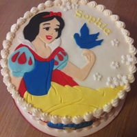 Snow White   Snow White birthday cake. Snow White is hand cut fondant.