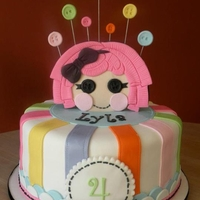 Lalaloopsy Birthday   Cake for a Lalaloopsy themed birthday party