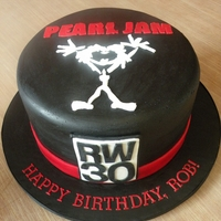 Pearl Jam Birthday   Pearl Jam themed birthday cake. Details are hand cut fondant.