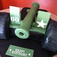 Ready, Aim, Fire!   3D Cannon cake for a surprise 60th birthday. The recipient is a huge fan of cannons and actually owns one that this cake was based on.