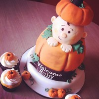 Pumpkin-Themed Baby Shower  When I was asked to make a cake for a pumpkin-themed baby shower I immediately remembered a cake from Sweet Melissa's Cakes and knew I...