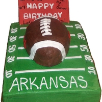 Jared Loves Football  the birthday boy loves football. The parents were on a tight budget but wanted a cake to feed 20-25 ppl. Initially they wanted just a...