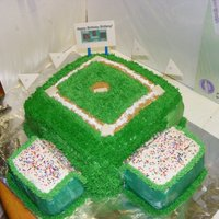 Softball / Baseball Field Cake Softball field cake for my daughters birthday