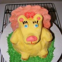 "Lion Smash Cake The parents wanted a ""Cartoony"" Lion for their daughters first birthday smash cake."