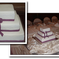 Purple Wedding Cake 3 tier chocolate wedding cake