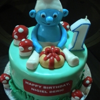 Smurf 1St Birthday