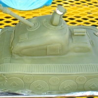 3D Tank Cake For 5 Year Old Army Themed Birthday Party My five year old wanted an army themed birthday cake. I got the idea from several pics gleaned from the internet, including a tank cake...
