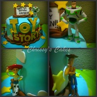 Toy Story Toy Story cake, covered in fondant with plastic figures (Sorry guys, I'm not THAT talented yet!) TFL