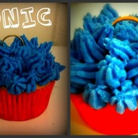 Sonic The Hedgehog Cupcakes I made these for my son to take to school as they celebrated summer birthdays :) Chocolate cupcakes with Royal Blue vanilla buttercream and...