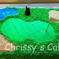 Golf Cake Inspired by many of the cakes seen here on CC! Thank you everyone for all of your inspiration!