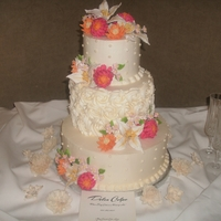 Sharon And Mike Cassata Cake with IBC and sugar flowers.