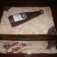 Cheers To John Wasc With Ib Fondant And Gumpaste Accessories Rice Krispie Wine Bottle With Coconut Shavings Cheers to John! WASC with IB. Fondant and gumpaste accessories. Rice krispie wine bottle with coconut shavings.