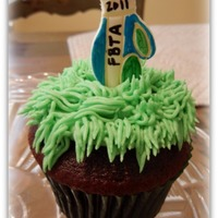 "Golf Bag Cupcakes Golf Bag cupcakes I made for our church school's golf tournament fundraiser (""FBTA"" is the school name). I used the golf bag..."