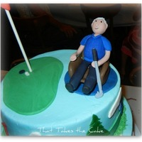 Lounge Chair Golf Birthday Cake This was a birthday cake for an 80 year old gentlemen who is an avid golfer, loves to watch sports in his lounge chair and enjoys his beach...
