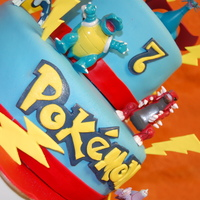 Pokemon Cake This cute Pokemon cake was a special request for a Pokemon-themed birthday party. Top tier is a Moist Vanilla sponge cake layered with...