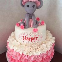 Elephant Baby Shower Cake   *Elephant baby shower cake