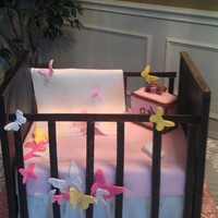 Butterfly Crib Cake I made for my new great niece that is on the way