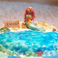 Mermaid my daughter's 4th b-day, mermaid+other details marzipan