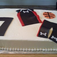 Under Armor 7 year old requested an Under Armor cake with a basketball. Probably the strangest request I've for a kid, lol. Oh well, he loved it....