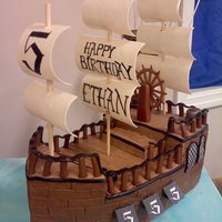 Pirates!  Thank you to another cc'er whose cake was inspiration for this. My son picked out this cake 6 months prior to his birthday. Everything...