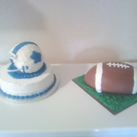 Helmet & Football Birthday Cake..all Buttercream