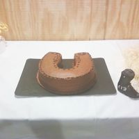 Horseshoe Grooms Cake With Edible Gumpaste Boot