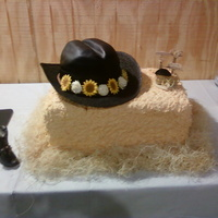 Hay Bale/cowboy Hat Wedding Cake