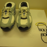 Running Shoes 3D running shoe cake. If you want to see a tutorial on how to make a shoe cake then go to my blog at www.cakesandcookiesbyandrea.blogspot....