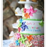 Pinwheels Cake Pinwheels cake for a celebration