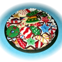 Assortment Of Christmas Cookies Various Christmas cookies: NFSC with Toba Garrett's glace.