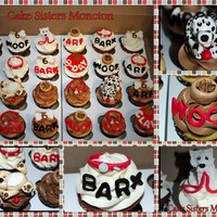 Puppy Cupcakes For A Doggy Themed Birthday Party Choc Red Velvet And Vanilla Cupcakes With Chocolate And Vanilla Buttercream Ruff   Puppy cupcakes for a doggy themed birthday party. Choc, red velvet and vanilla cupcakes with chocolate and vanilla buttercream. RUFF!