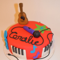 Music Themed Cake Banana Cake With Chocolate Buttercream Music themed cake. Banana cake with Chocolate buttercream