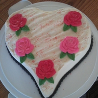 Heart Cake This was a quick cake done for my daughters school